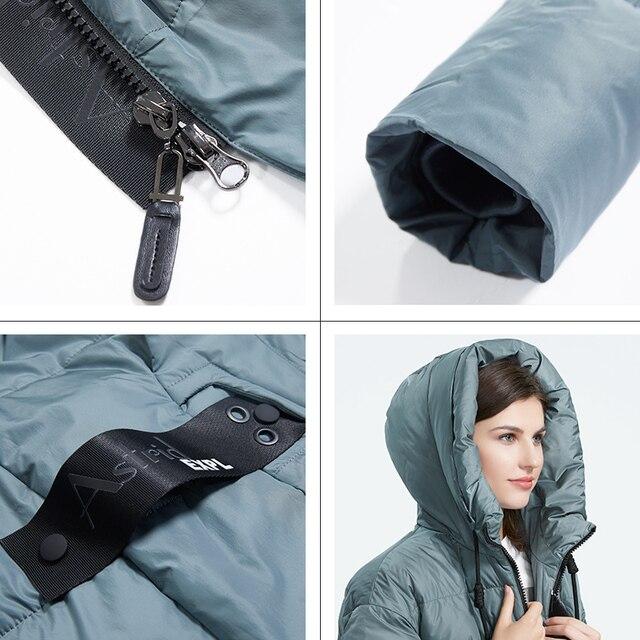Astrid 2019 hiver nouveauté doudoune femmes vêtements amples vêtements d'extérieur qualité avec une capuche mode style hiver manteau AR-7038 5