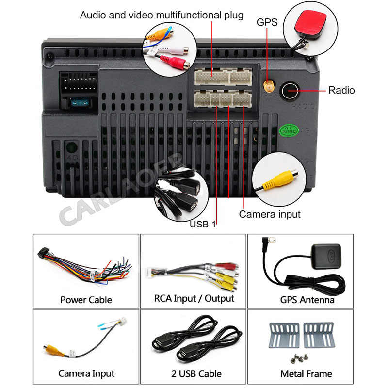 """Auto Radio 2 Din Android navegación GPS de Radio estéreo de coche 7 """"Wifi Bluetooth de Audio USB 2DIN Universal Multimedia reproductor de coche"""