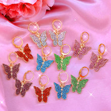 Женские серьги подвески flatfoosie модные разноцветные сережки
