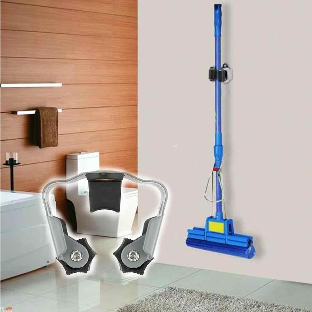 5 sztuk łazienka uchwyt do montażu na ścianie Mop uchwyt szczotka miotła wieszak stojak do przechowywania narzędzia kuchenne łazienka ssania wiszące narzędzia