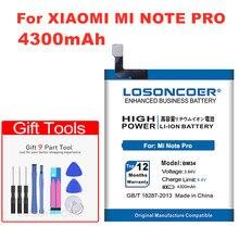 BM34 LOSONCOER 4000 mAh 3.84 V Baterias de Telefone Celular Para Xiao mi mi Nota Pro Bateria