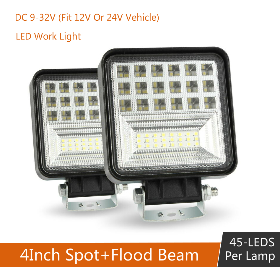 4 Inch DC 9-30V 48W 6000K LED Work Light Bar Flood Spot Beam Spotlight Waterproof For Off-road Car Truck Boat Driving Fog Lamp