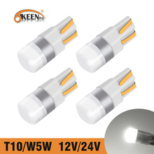 OKEEN T10 W5W Led 3030 SMD 12V 24V LED Light Bulbs Dome Reading Car Light Sidemarker Sidelight Parking Lights 194 168 Lamp Bulbs cheap CN(Origin) Turn Signal 350lm T10 (W5W 194) 12V 24V Universal T10 W5W 168 194 White Blue Amber Yellow Red Green Ice Blue and Pink