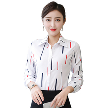 Korean Women Shirts OL Cotton Shirt Elegant Women Dot Print Blouse Shirts Blusas Mujer De Moda Woman Long Sleeve Shirt Plus Size