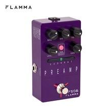 Flamma fs06 preamp pedal estéreo digital efeitos de guitarra pedal com 7 modelos preamp pré-ajuste salvar slot built-in gabinete simulação