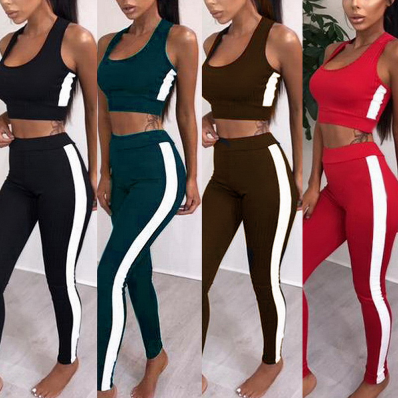 Sexy Sleeveless Seamless Yoga Set Women Tracksuit Gym Leggings Sports Bra Push Up Workout Sports Suits Fitness Clothing