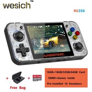 Wesich Linux System RG350 Ретро игровая консоль 3,5 дюймов IPS экран 16 ГБ + 32 ГБ/64 ГБ 10000 + игры внутри RG 350 Ручной игровой плеер