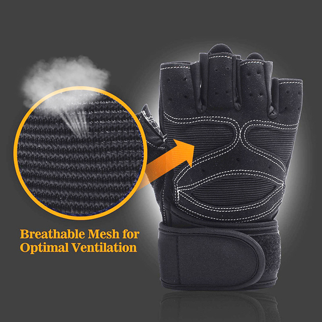 Heavyweight  Exercises Half Finger Weight Lifting Gloves Body Building Training Sport Gym Fitness Gloves For Men Women M/L/XL 2