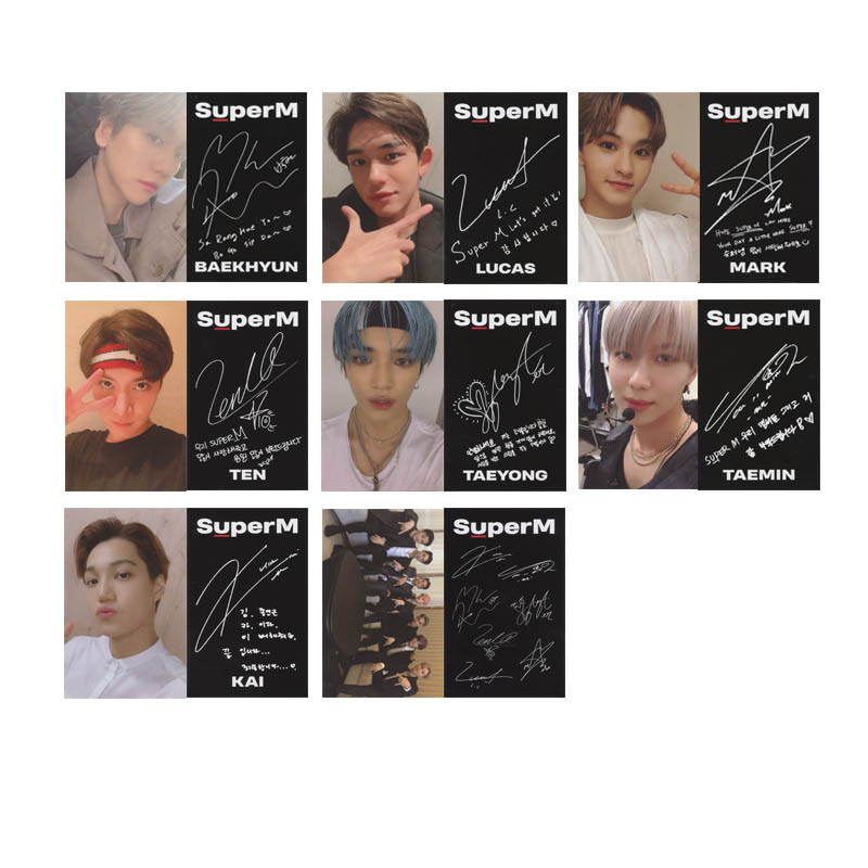 Youpop KPOP SUPERM Debut Album Photo Card Hip Hop Self Made Paper Cards Autograph Photocard XK639