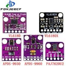 Reconhecimento de gestos sensor paj7620u2 9 gmerecognition reconhecimento APDS-9930 APDS-9960 vl6180 vl6180x range finder óptico variando