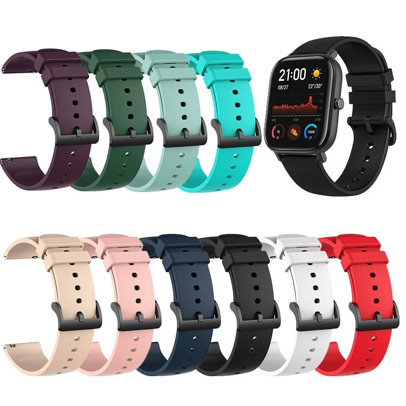 Sport Silicone Strap For Xiaomi Huami Amazfit GTS/GTR Bracelet Wrist Strap For Huami Amazfit GTS 42mm Band For Huami Amazfit GTR
