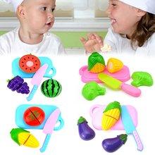 4 шт/компл дети ролевые игры кухня фрукты овощи еда игрушка