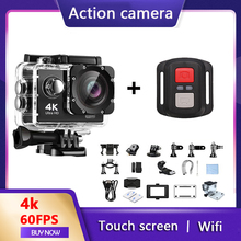 Action Camera 4K Ultra HD 30fps WiFi 170D 30m Underwater Waterproof Video Recording Cameras Sport Cam With Remote Control