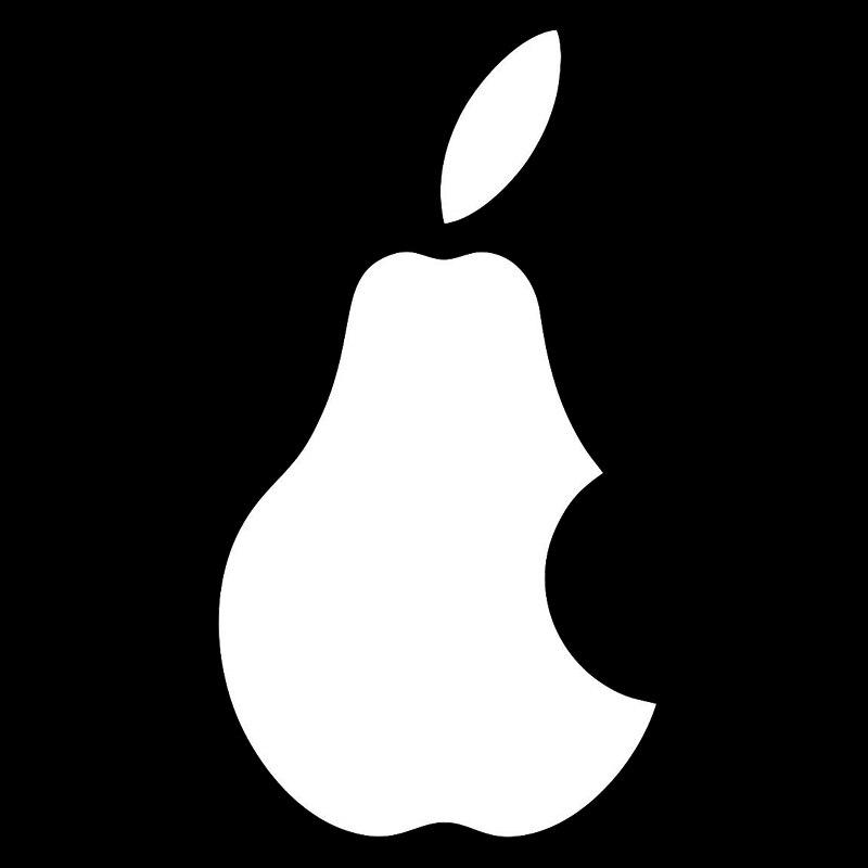 15*8.1cm  Pear NO Apple Logo Vinyl Sticker Decal Die-Cut Car Laptop Be Different Cool Graphic Car Accessories