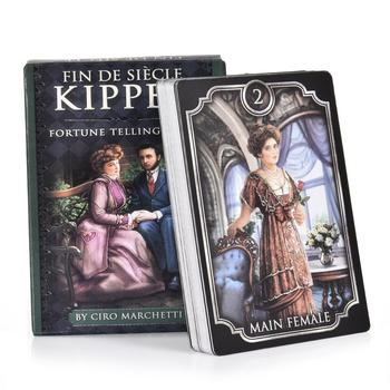 Creative Fin De Siecle Kipper Tarot Cards 39PCS/Set Full English Divination Game Card With PDF Guidebook Party Board Game Toys image