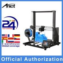 Anet a8 plus kit de impressora 3d auto montagem 300*300*350mm móvel painel de controle lcd sobre corrente proteção mainboard