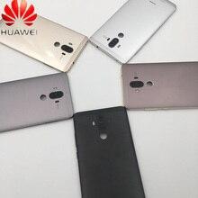 Couvercle de batterie dorigine Huawei Mate 9 couvercle de boîtier de couverture arrière de porte étui pour Huawei Mate 9 coque arrière avec bouton latéral + objectif de lappareil photo
