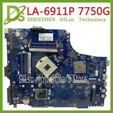 Kefu LA-6911P motherbaord para acer aspire 7750 7750g portátil placa-mãe mbrn802001 p7ye0 LA-6911P 3amfg original 100% testado