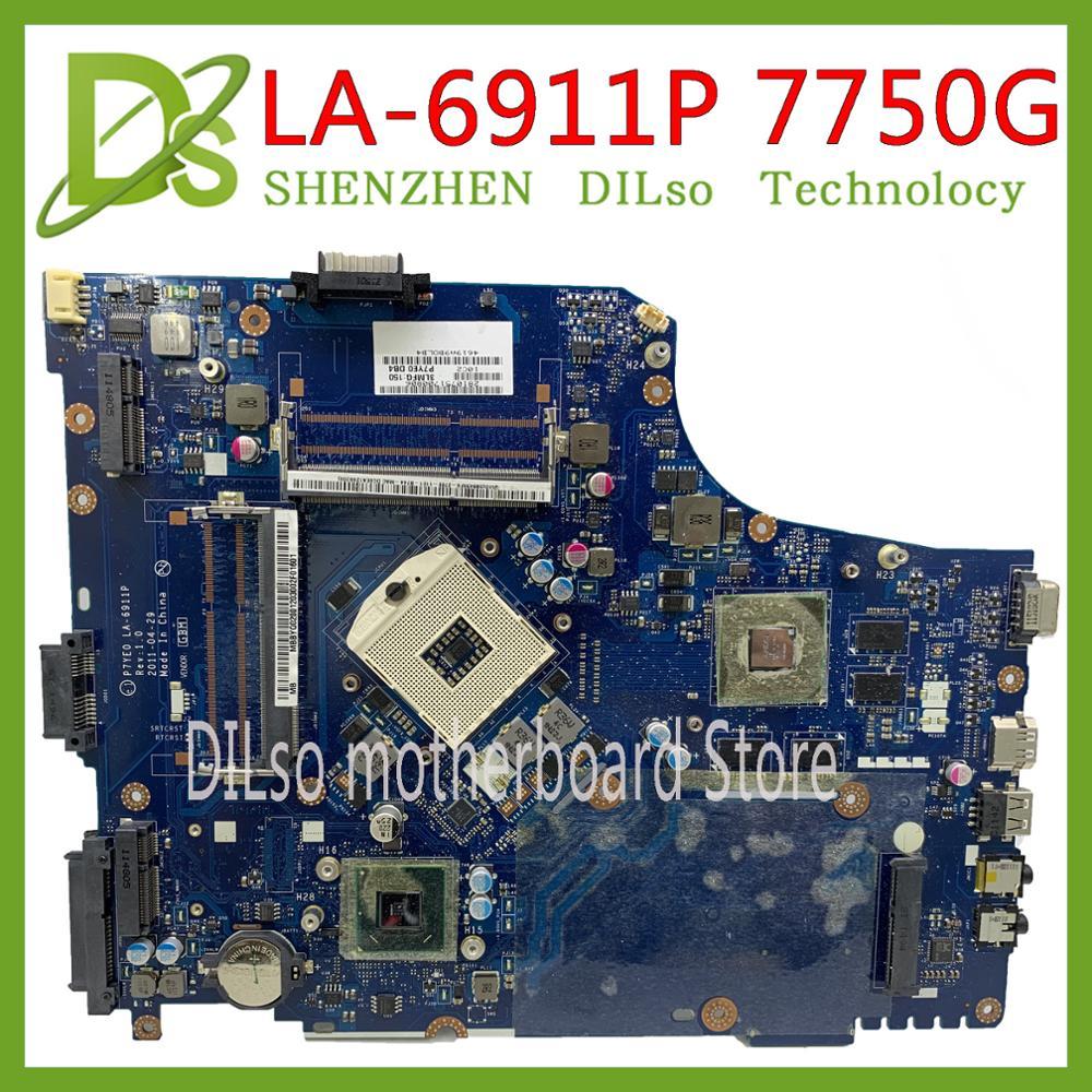 KEFU LA-6911P Motherbaord For Acer Aspire 7750 7750G Laptop Motherboard MBRN802001 P7YE0 LA-6911P 3AMFG Original 100% Tested