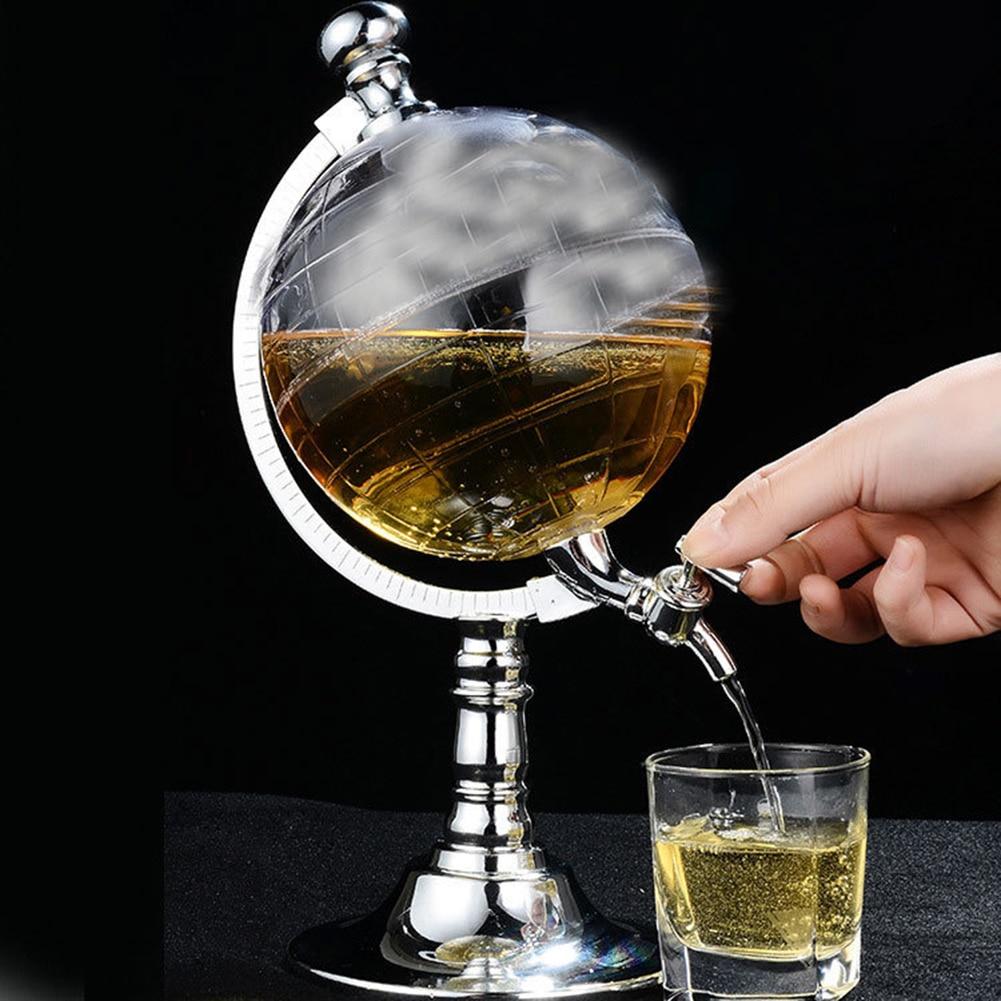 Набор Графин для виски, Диспенсер из прозрачного стекла для ликера, вина, напитков, соков, Диспенсер, западный ресторан, стеклянная чашка для бара Плоские фляги      АлиЭкспресс