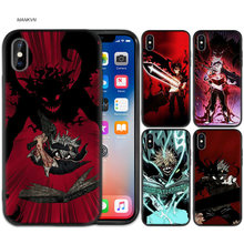 Manga Anime B Zwart Rubber Zachte TPU Silicone Case Cover voor iPhone X XS XR XS 11 11Pro Max 7 8 6 6S 5 5S 5C SE Plus Fundas Capa(China)