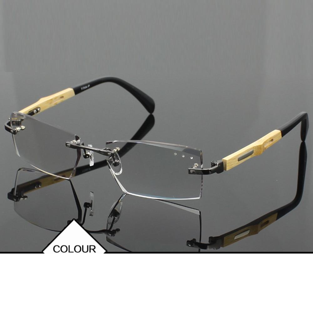 Luxury PRIVATE Custom Manual Pure Titanium Frame Diamond Cut High-elastic Tinted Lenses Mens Prescription Glasses Photochromic