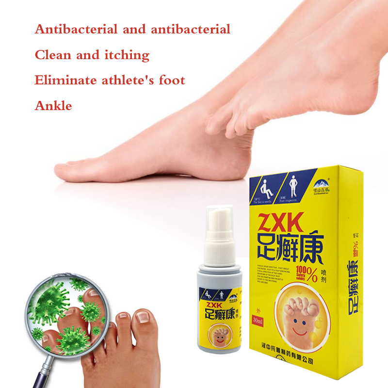Foot Odor Spray Antibacterial Deodorant Powder Anti Itch Sweat Odor Feet Athletes Foot Liquid Anti-fungi Shoe Sock Feet Care
