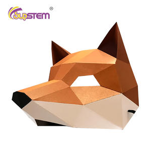 Costume Toys Paper-Mask Cool Stuff Halloween Cosplay DIY 3D Cute Fox Gifts Party Sexy
