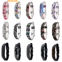 Pattern Silicone Watch Strap For Fitbit Flex 2 wristband Replacement straps Smart accessoriet band pattern stripe adjustable(China)