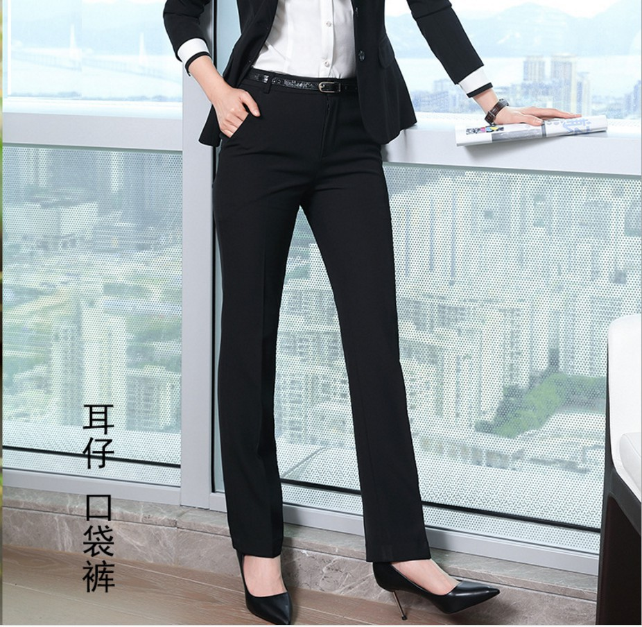 H19bc95ff41af497f8388f169db0c753er - Fashion Formal Pants for Women Business Work Wear Office Lady Long Trousers Autumn Winter Plus Size 4XL XXXL Pants Female