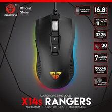 FANTECH X14S Optische Einstellbare 4000DPI 7D Makro Berufs Wired Gaming Maus Für Gamer Maus Ätherisches Ergonomische Maus