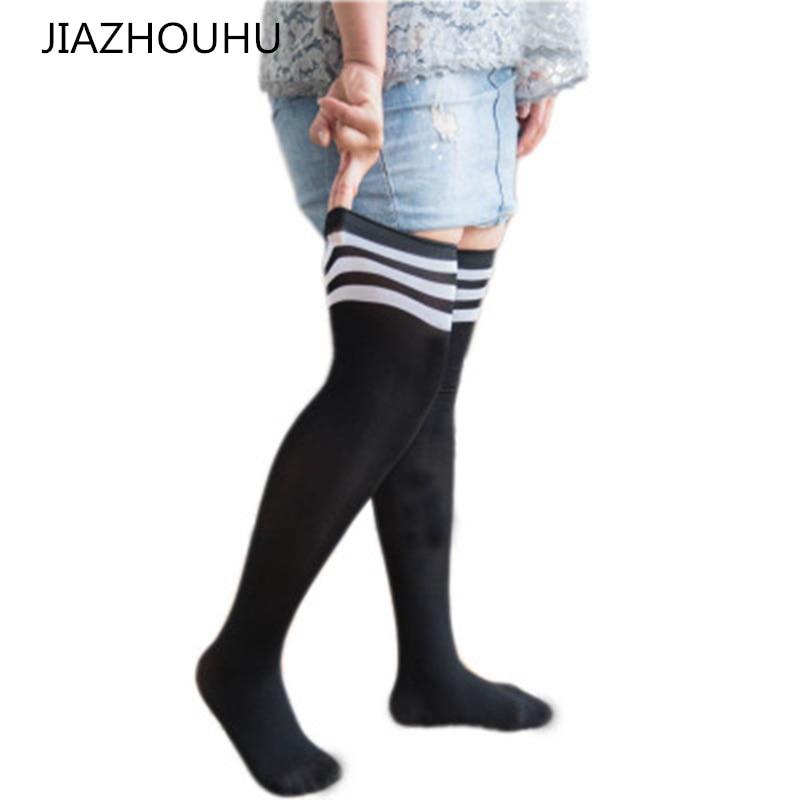 Large Size Loose Women's Stockings Over Knee Socks Thigh High Socks Explosion Plus Size Female Stockings Loose Long Socks Women