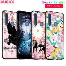 Black Silicone Cover Alice In Wonderland for Samsung Galaxy A8S A9 A7 2018 A8 A6 Plus A5 A3 Star 2018 2017 Phone Case silicone phone case army camo camouflage for samsung galaxy a8s a6s a9 a8 star a7 a6 a5 a3 plus 2018 2017 2016 cover