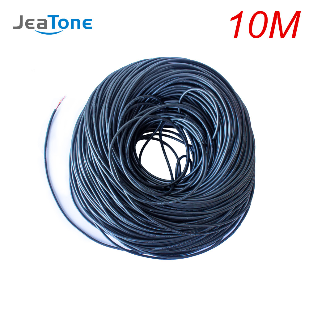JeaTone Video Extend Cable 4x0.2mm 10 Meters Tinned Copper Wire Free Shipping