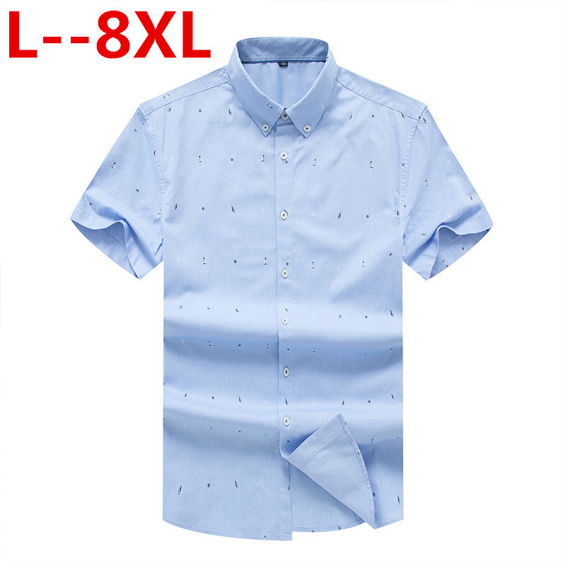 8XL 6XL 5X 2020 New Summer Linen Casual Shirt Men Short Sleeve Classic Men's Dress Shirts Slim Fit Solid Color Man Fashion Shirt