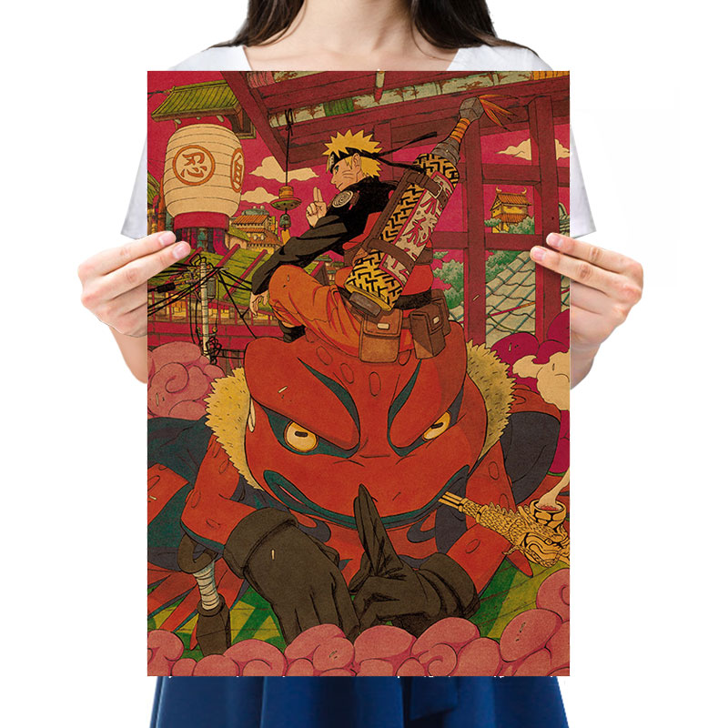 Vintage Anime Ninja Manga Character Uzumaki Ninja Prophecy Son Nostalgic Retro Kraft Paper Poster Bar Decor Painting 51x35.5cm