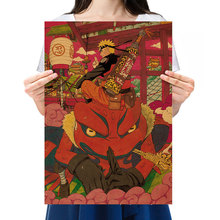 Poster-Bar Decor Painting Paper Kraft Nostalgic Manga Uzumaki Retro Anime Character 51x35.5cm