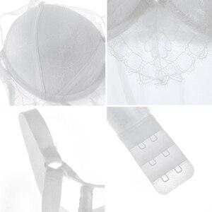 Image 5 - 入りブラジャーランジェリーセクシーなコルセットビスチェ女性下着弾性透明ストラップコルセットウエストトレーナーパジャマブラックホワイト
