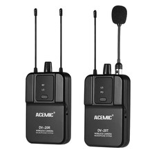 ACEMIC DV-20 UHF Wireless Microphone with Transmitter & Receiver Compatible with DSLR Camera Camcorder Interview Sound Recording(China)