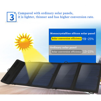 30W 5V Folding Solar Panel Foldable Portable Power Charger For Cell Phone Camping Outdoor 4