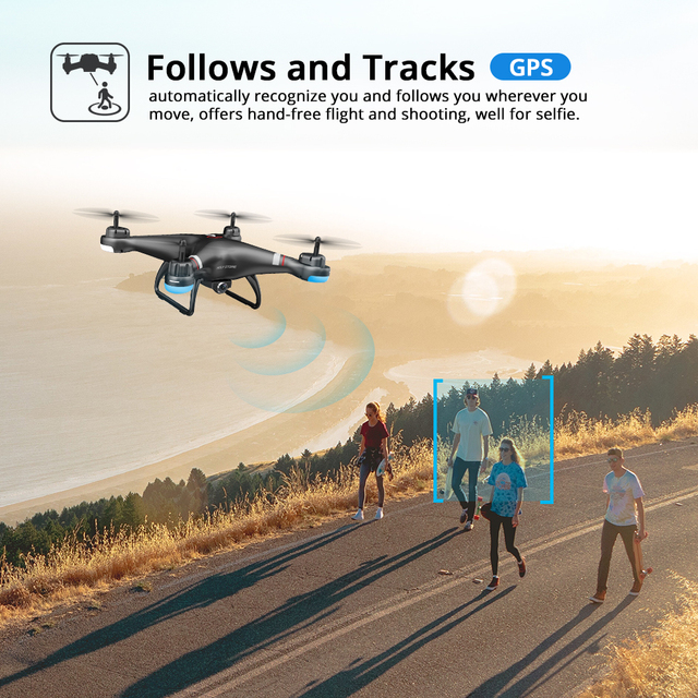 Holy Stone HS110G GPS Drone With 1080P HD Camera FPV Live Video RC Helicopter FOV 120° Wide-Angle RC Drone Camera Quadcopter