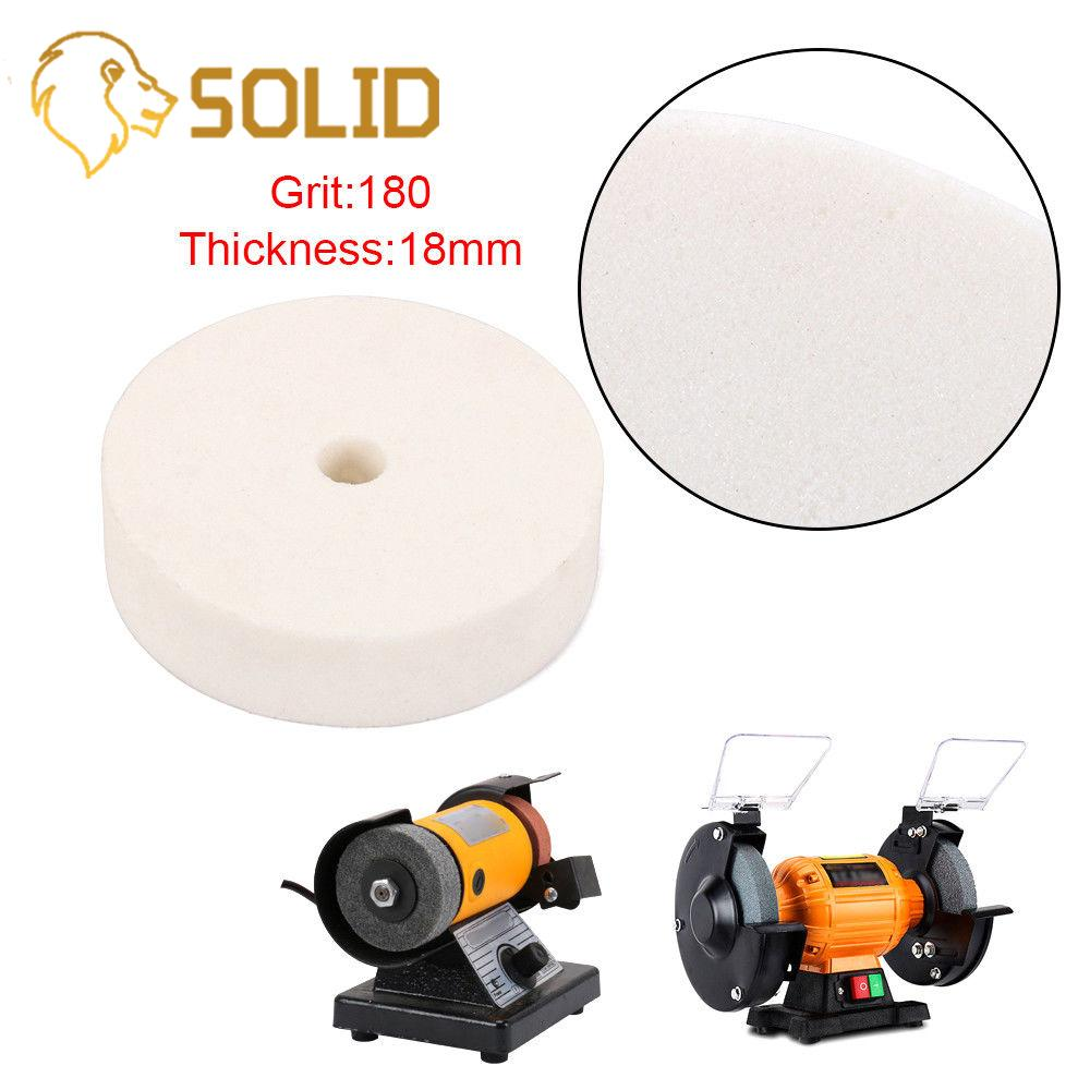 78mm Ceramics Grinding Wheel Bore 10mm Thickness 18mm Corundum Polishing Pad Abrasive Disc Grinder Rotary Tool 180 Grit