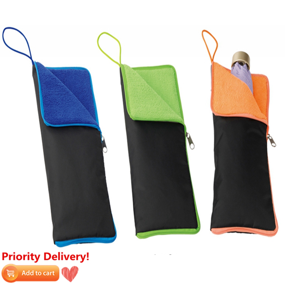 Waterproof Umbrella Storage Organizer Cover Case Folding Umbrella Bag Super Water-Absorbent Umbrella Case Umbrella Cover