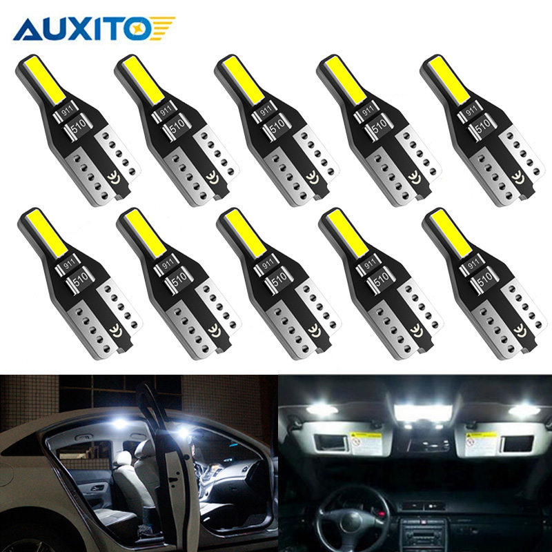 10x W5W T10 LED Interior Car Lights for <font><b>Peugeot</b></font> 307 206 207 306 308 406 508 307 406 3008 2008 5008 <font><b>301</b></font> 194 168 Auto Led <font><b>Lamp</b></font> 12V image