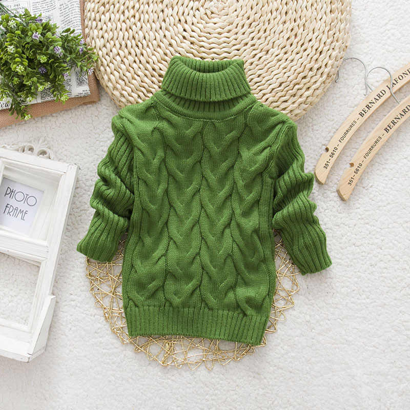 2019 детские осенние вязаные свитеры, пуловеры с высоким воротником для маленьких мальчиков и девочек, детская разноцветная одежда с длинными рукавами и рисунком