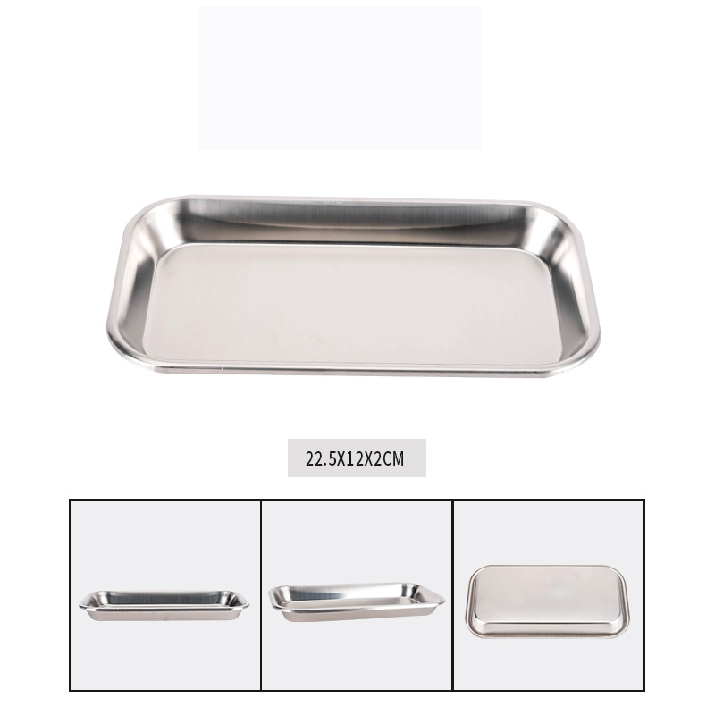 1pcs 12cm x 22.5cm Stainless Steel Dental Holder Plate Dish Dentistry Instruments Lab Surgical Tray Equipment Tray Dentist tools