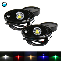 Universal 9w White Red Yellow Green Blue LED Light LED Rock Light Kit Underbody Glow Trail Rig For Jeep Truck SUV Off Road Boat