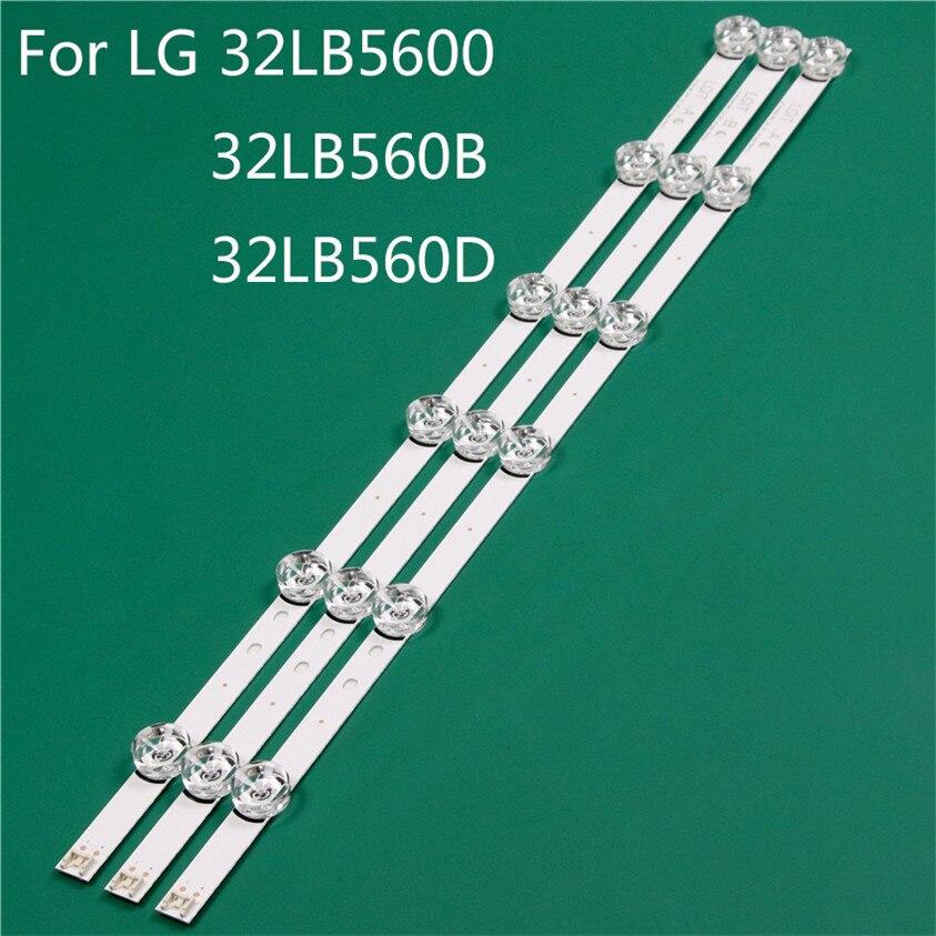 Işıklar ve Aydınlatma'ten Işık Boncukları'de LED TV aydınlatma parçası LG için yedek parça 32LB5600 UH 32LB560B UH 32LB560D TA LED çubuk arka şerit hattı cetvel DRT3.0 32 A B title=