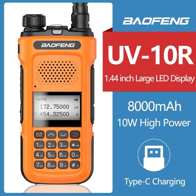 Echt Baofeng UV 10R 10W Walkie Talkie Radio Station Met Fcc & Ce Comunicador 30Km Transceiver Upgrade UV 5R BF 9R plus Radio