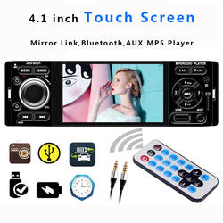 Multimedia Mirror Link Car Radio 1 Din Stereo Auto Touch Screen Bluetooth USB Aux Rearview Camera MP5 Video Car Player